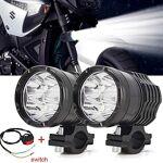 Biqing Phare Moto Feux Additionnels LED,40W Ronde LED Phares Avant Moto... par LeGuide.com Publicité