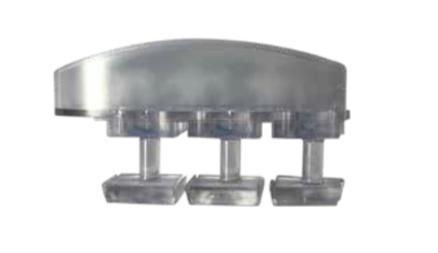 Bouchon à siliconer pour lames polycarbonate