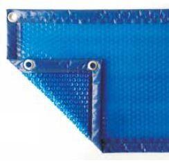 Bâche à bulle luxe 400 µ octogonale bleu/bleu