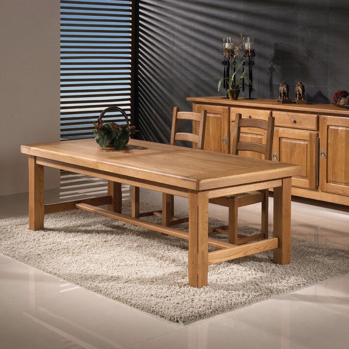 Table de ferme rectangulaire chêne massif ciré L220