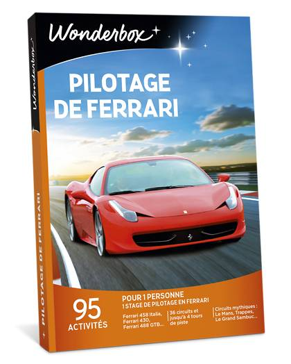 Wonderbox Coffret cadeau - Pilotage de Ferrari - Sport & Aventure