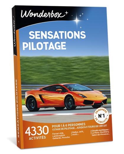 Wonderbox Coffret cadeau - Sensations Pilotage - Sport & Aventure