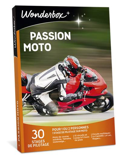 Wonderbox Coffret cadeau - Passion moto - Sport & Aventure