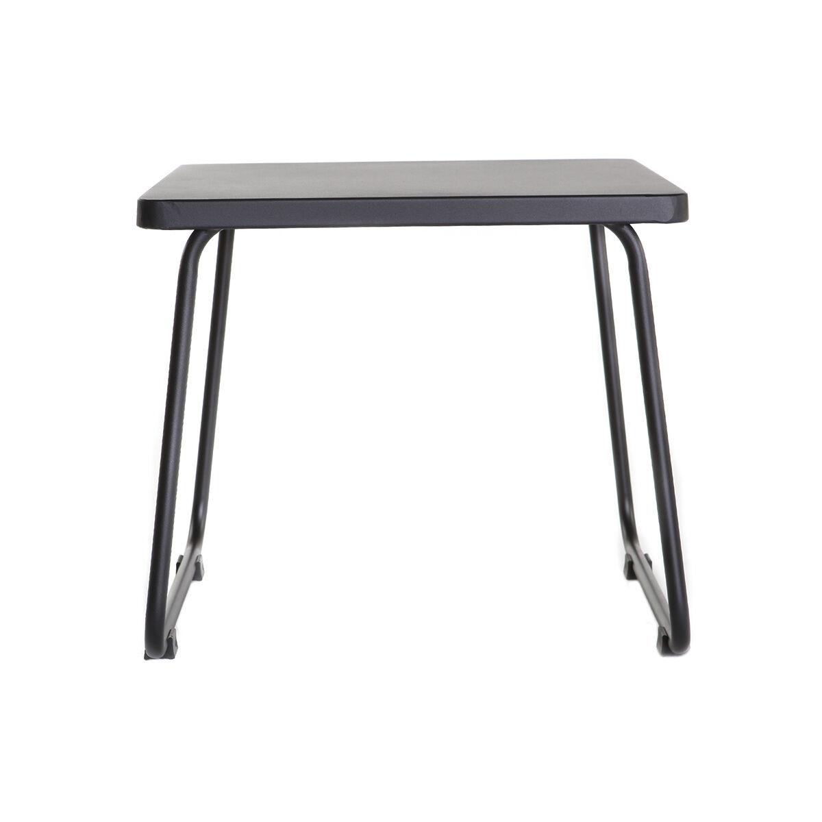 Miliboo Table d'appoint en métal noir MONACO