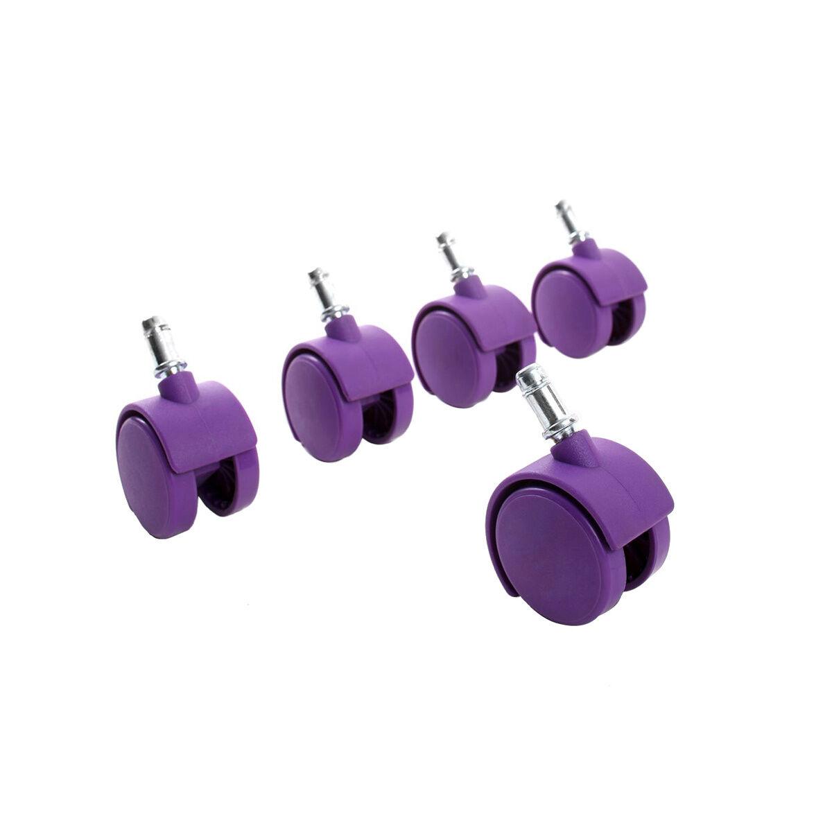 Miliboo Roulettes violettes