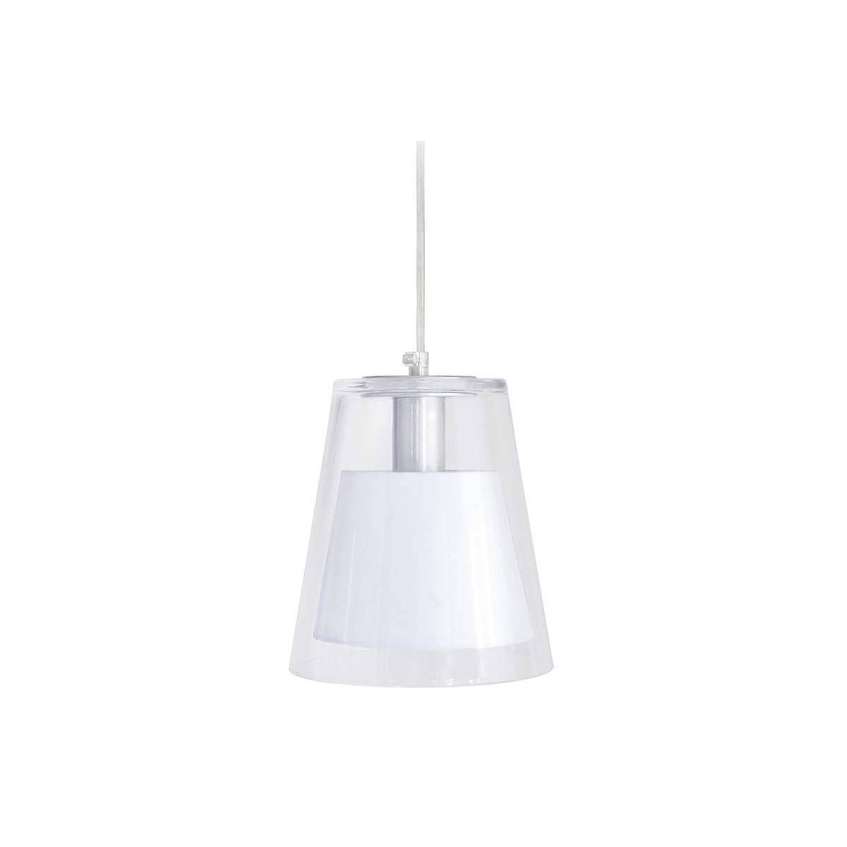 Miliboo Suspension design verre et blanc ACROSS