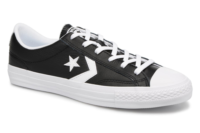 Converse Star Player Leather Essentials Ox - Baskets Homme, Noir