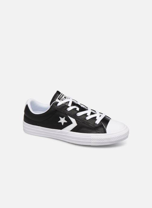 Converse Star Player Leather Essentials Ox W - Baskets Femme, Noir