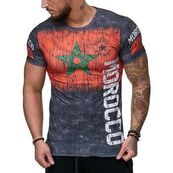 Cabin T-shirt T-shirt Maroc pour homme T-shirt Morocco gris