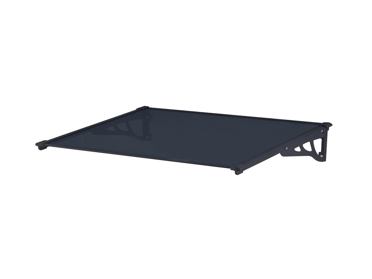 Vente-unique Auvent KEPLER en aluminium - 120*90*22cm - Noir