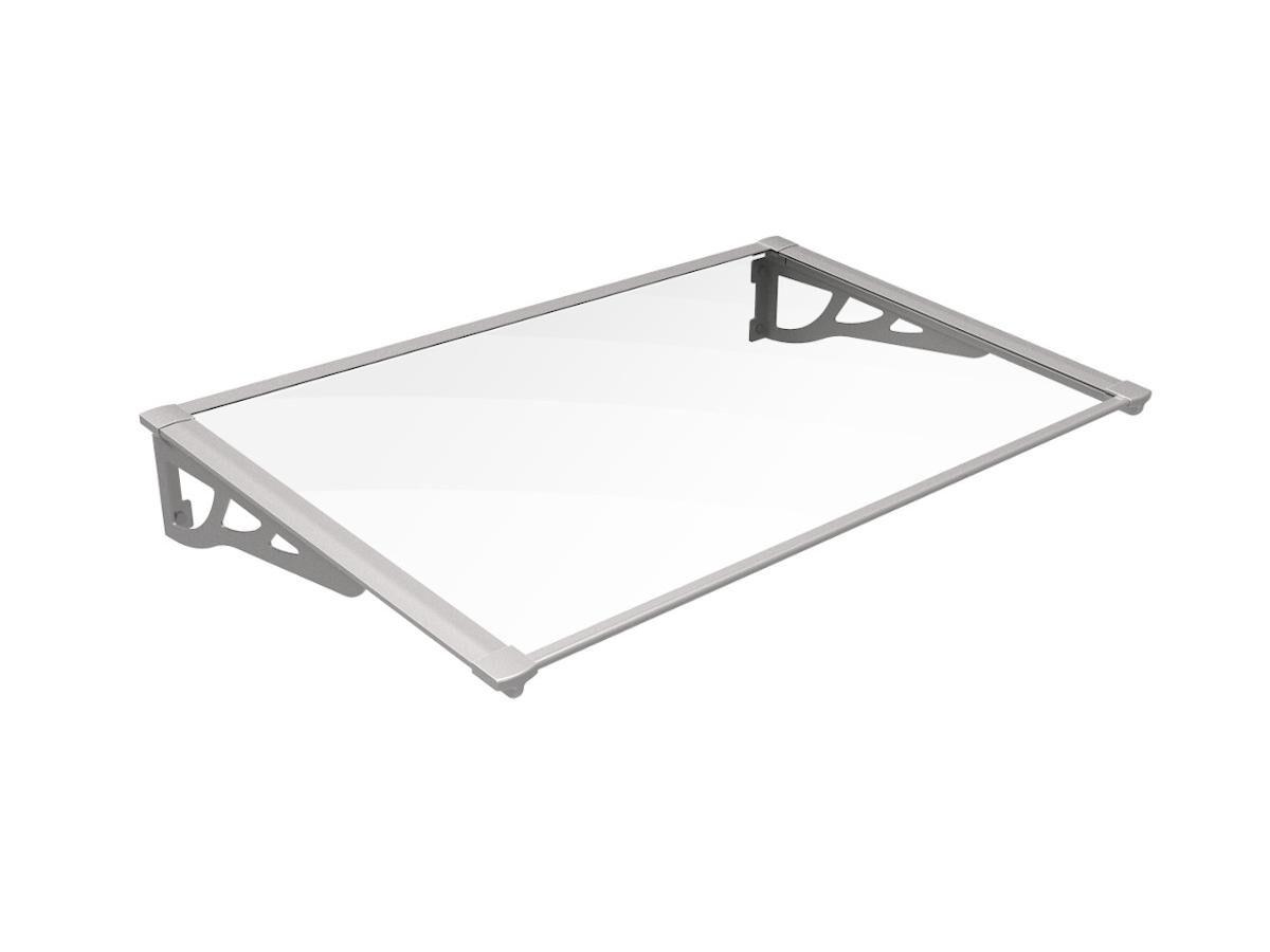 Vente-unique Auvent KEPLER en aluminium - 120*90*22cm - Argenté