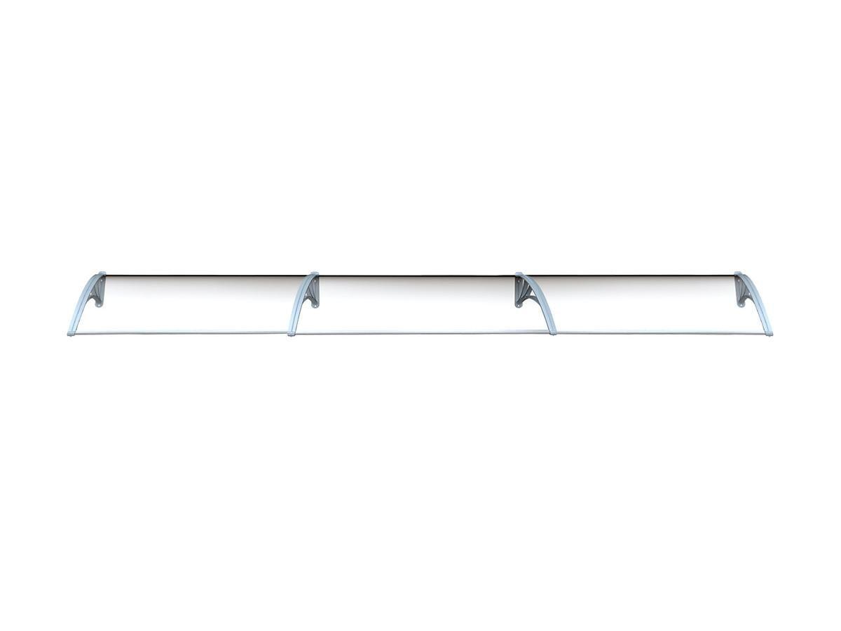Vente-unique Auvent en kit COPALINA en aluminium - 420*92.5cm