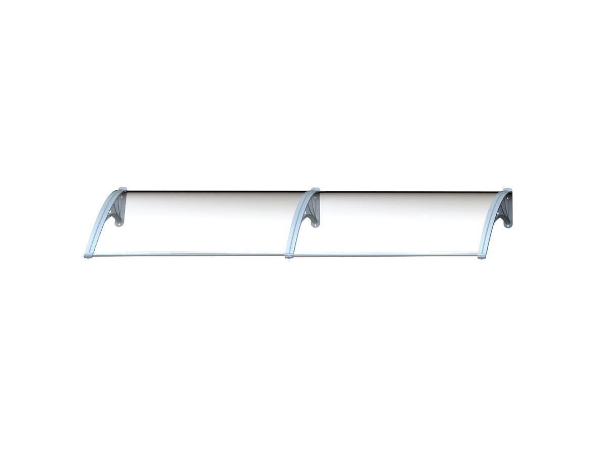 Vente-unique Auvent en kit COPALINA en aluminium - 240*92.5cm