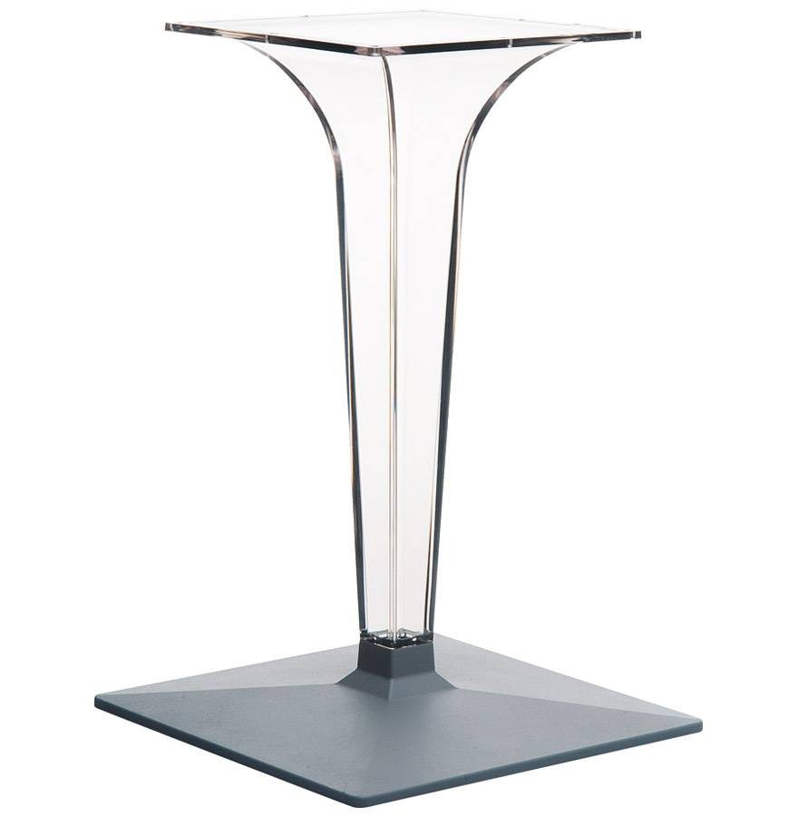 Pied de table 'DIMO' 70 transparent très design