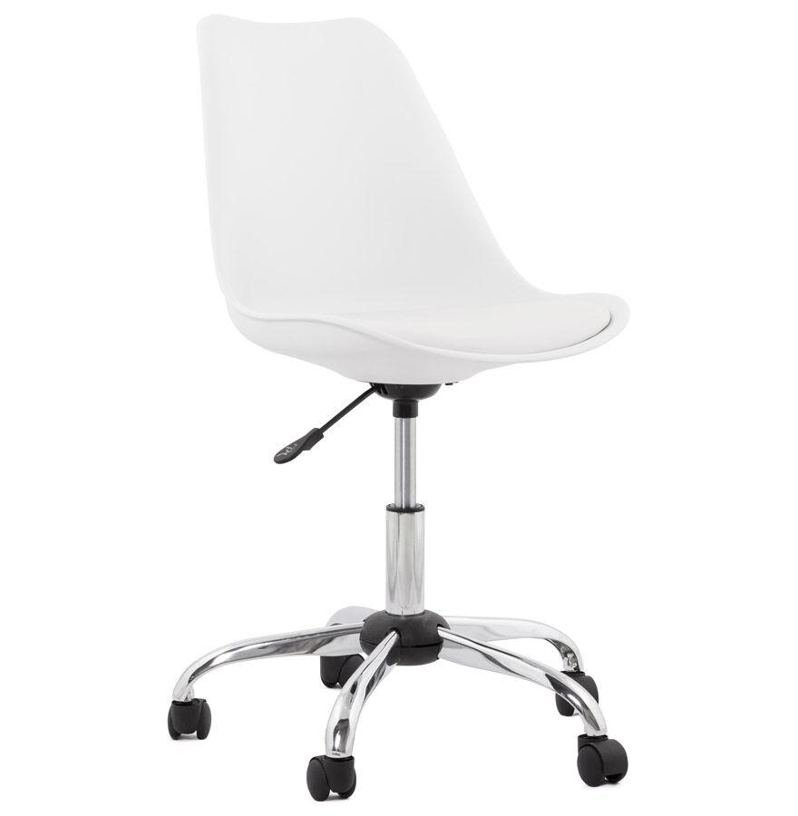 Chaise de bureau moderne 'SEDIA' blanche