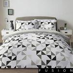 fusion  Fusion Hendra Parure de lit Facile d'entretien, Gris, Super... par LeGuide.com Publicité