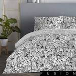 fusion  Fusion Zebra Parure de lit Facile d'entretien, Charbon, Super... par LeGuide.com Publicité