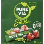 pure  Pure Boîte 40 sticks Stevia Zéro Calorie LE GOÛT DU SUCRE SANS CALORIE:... par LeGuide.com Publicité