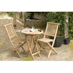 MACABANE 500983 Table Ronde Pliante 60 x 60 Couleur Brut en Teck Dimension... par LeGuide.com Publicité
