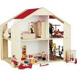 Rülke Holzspielzeug - Maison Mini poupées, 23122, Coleur Bois, Rouge... par LeGuide.com Publicité