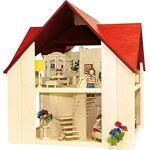 Rülke Holzspielzeug - Maison Mini poupées, 23112, Coleur Bois, Rouge... par LeGuide.com Publicité