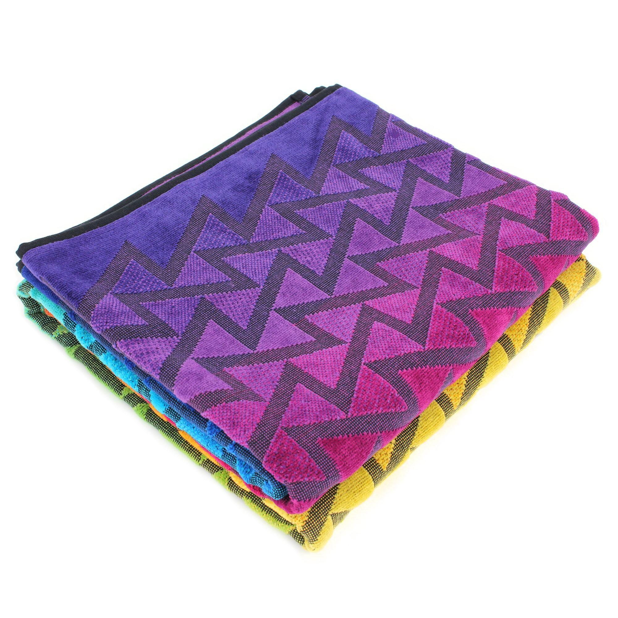 Linnea Drap de plage 100x180 cm CALICO forme géométrique multicolore