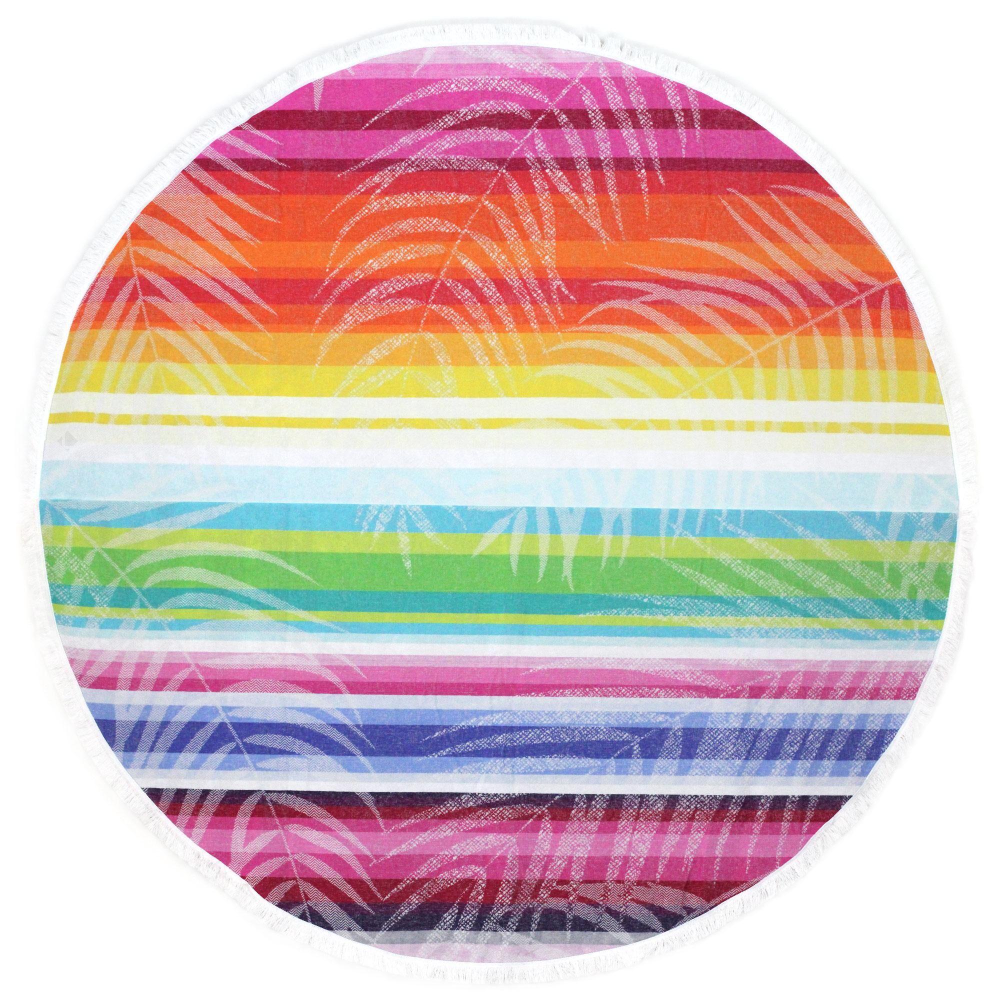 Linnea Fouta ronde doublée éponge D180 cm KINGSTON motif multicolore