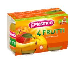 Plasmon (heinz italia spa) Plasmon Omog 4 Frutti 2x104g