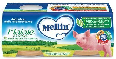 Mellin spa Omo Mellin Maiale C/verd.2x80g
