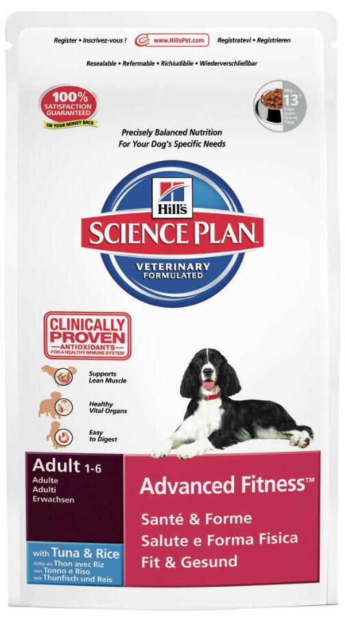 hill's - science plan crocchette per cani adulti advanced fitness tonno&riso 2,5kg