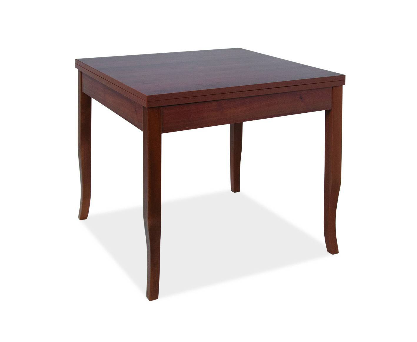 arredo interno tavolo ducale 90x90 cm allungabile a libro noce antico