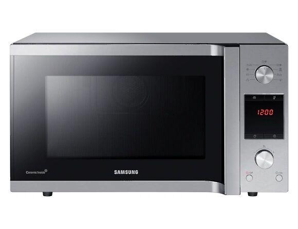 Samsung Forno Microonde Samsung Mc455tercsr Combinato Grill 45 L 900 W 6 Livelli Di Potenza 27 Programmi Display Led Libera Installazione Refurbished Silver