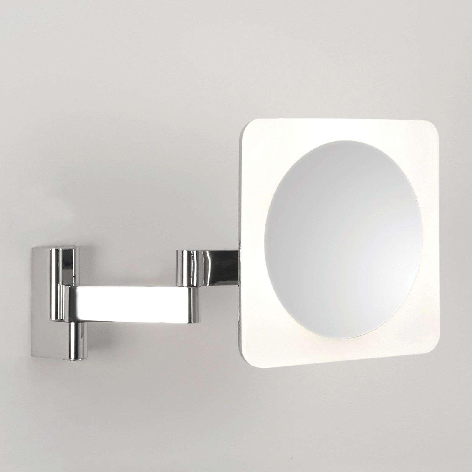 Astro Specchio LED Niimi Square con ingrandimento 5x