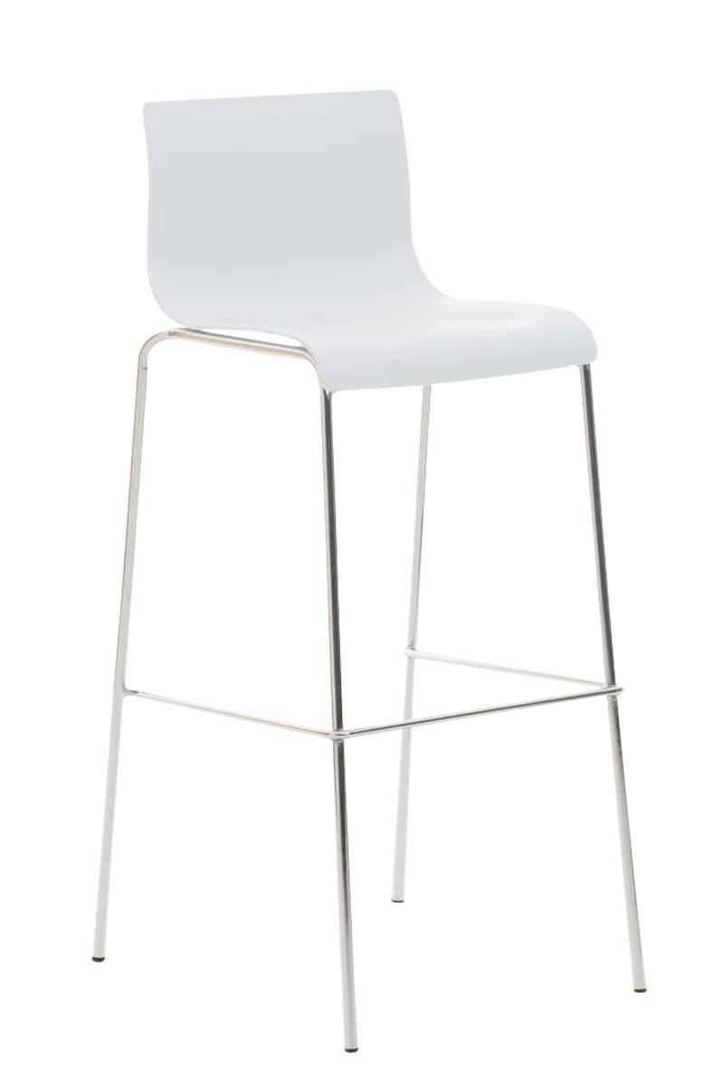 Hoover Sgabello design HOOVER in polipropilene, bianco CLP, bianco, altezza seduta