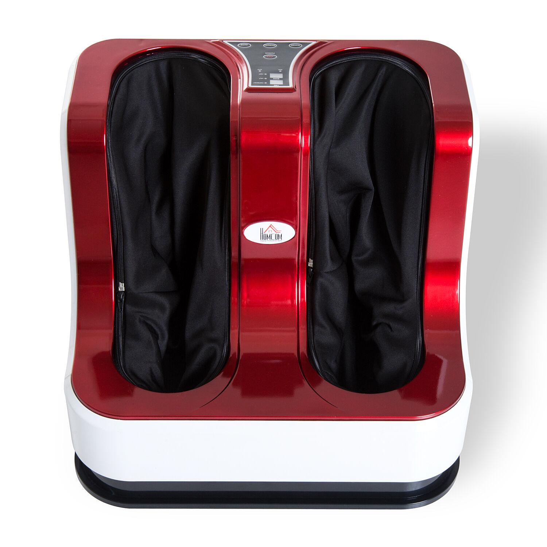 homcom massaggiatore piedi elettrico massaggio shiatsu a rullo con 3 programmi