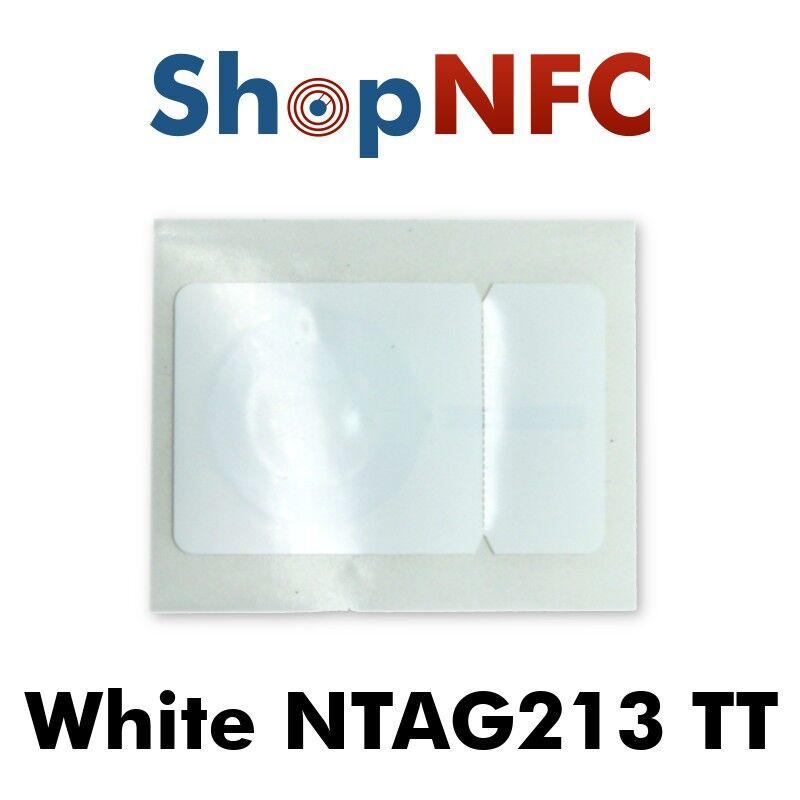 Tag NFC NTAG213 TT bianchi adesivi 26,5x42mm