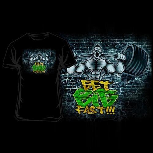scitec nutrition t-shirt get big fast nera