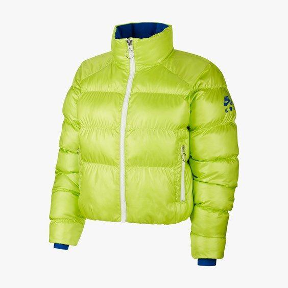 nike fill puffer pd x olivia kim for women in green - size wl