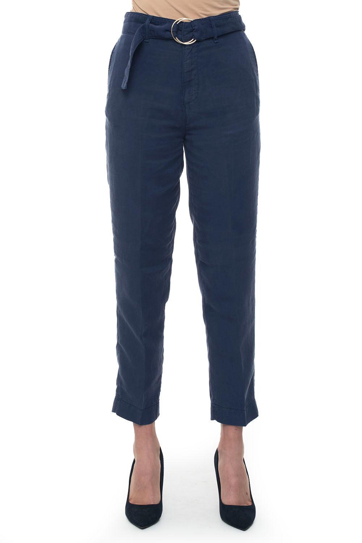 guess pantalone vita alta blu lyocell donna