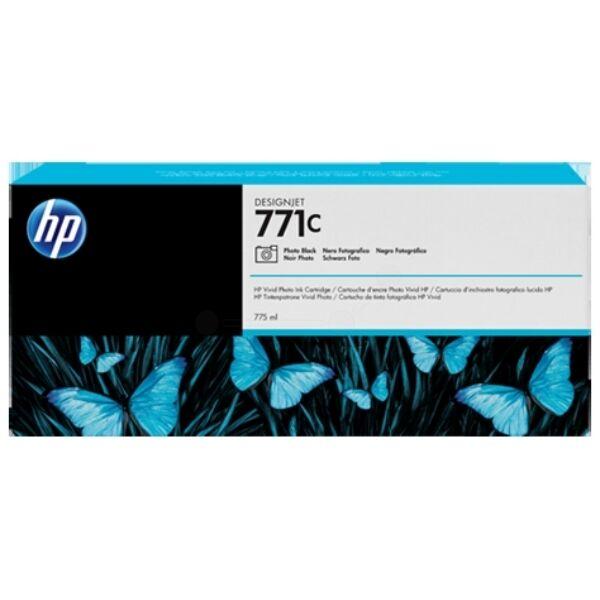 HP Originale  DesignJet Z 6200 42 inch Cartuccia stampante (771C / B6Y13A) nero foto, Contenuto: 775 ml