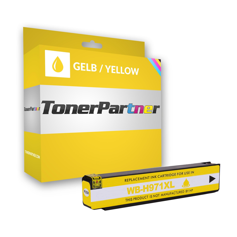 HP Compatibile con  OfficeJet Pro X 476 dn Cartuccia stampante (971XL / CN 628 AE) giallo, 6.600 pagine, 0,83 cent per pagina