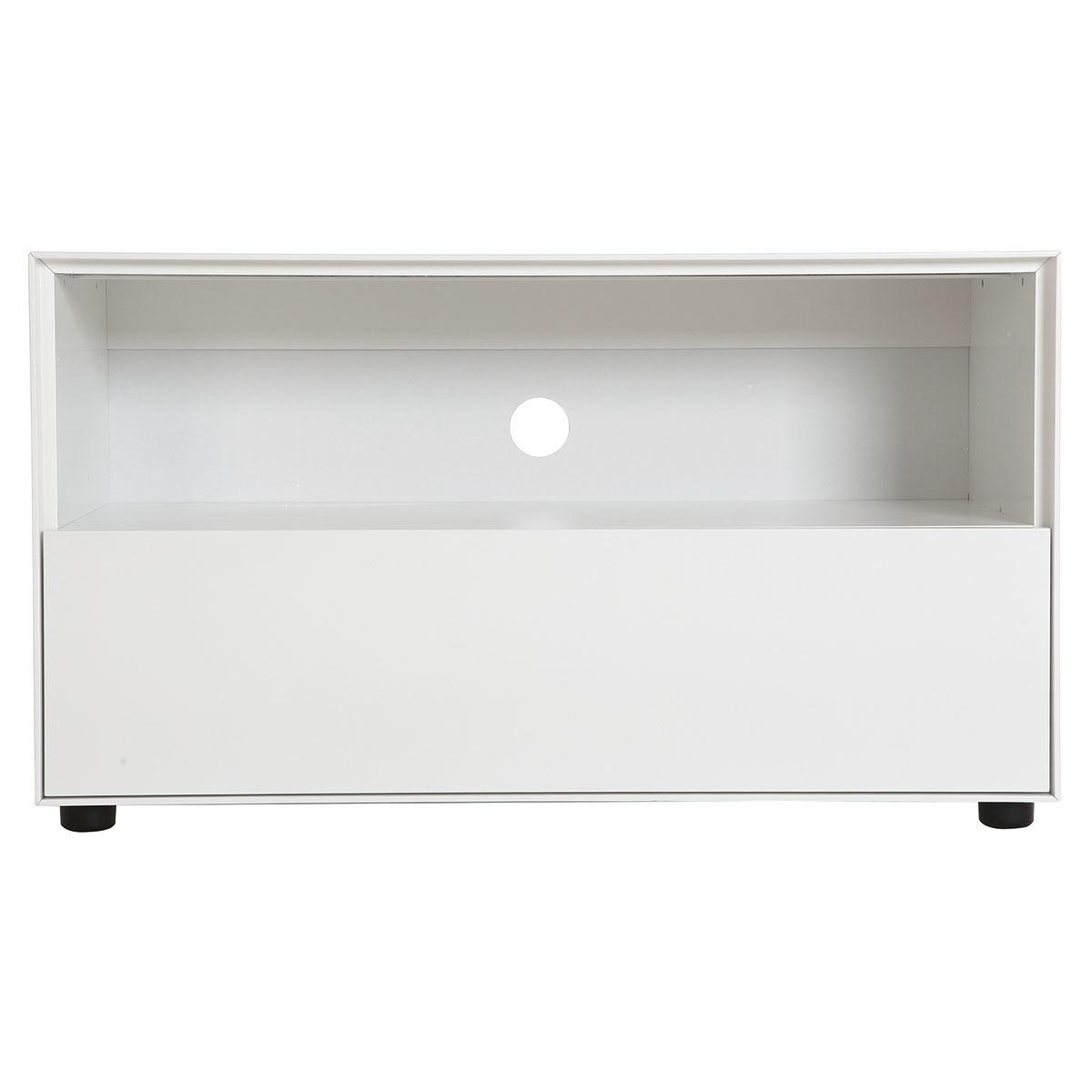 Miliboo Mobile TV design 90cm bianco opaco 1 cassetto MARK-