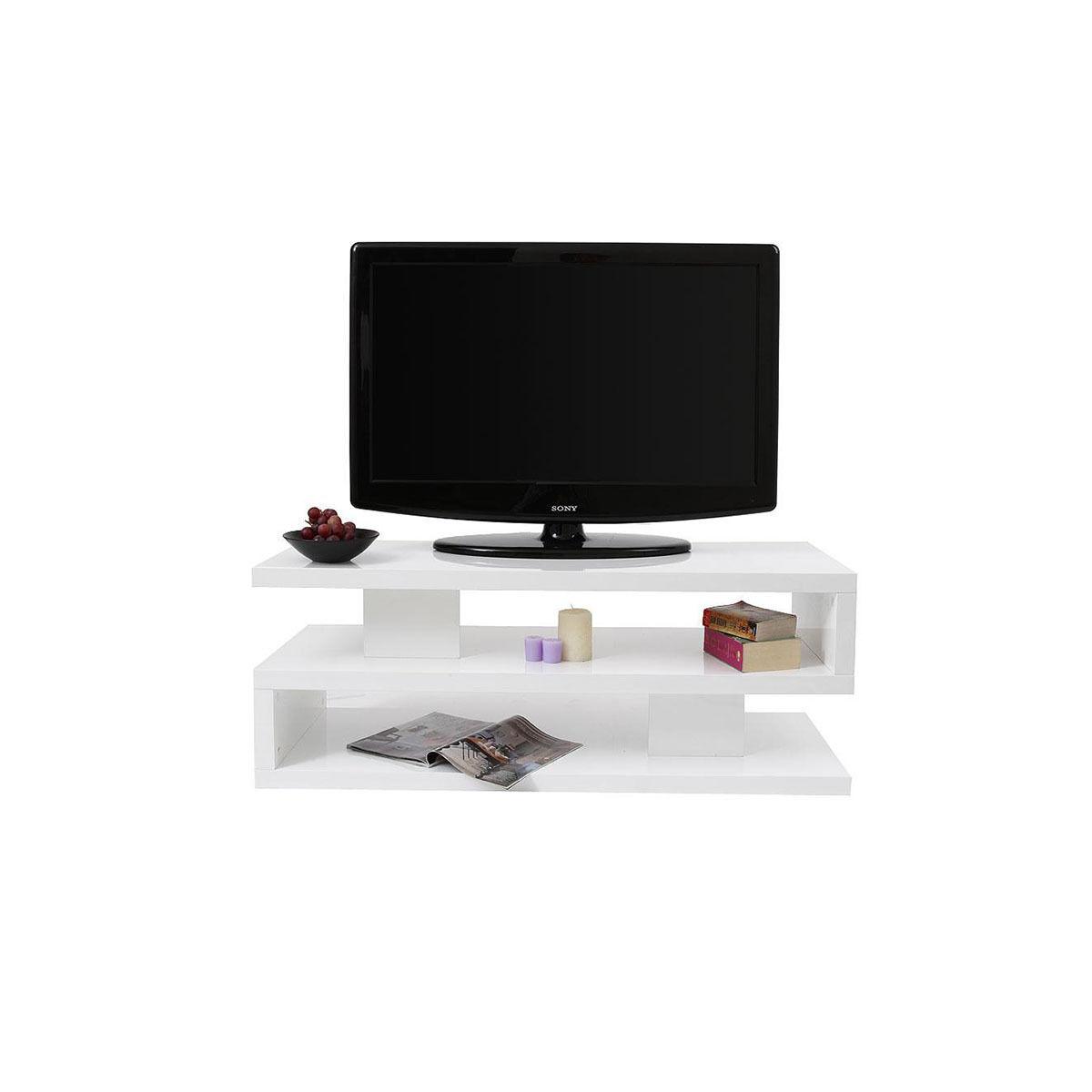Miliboo Mobile TV design laccato bianco NEXY-