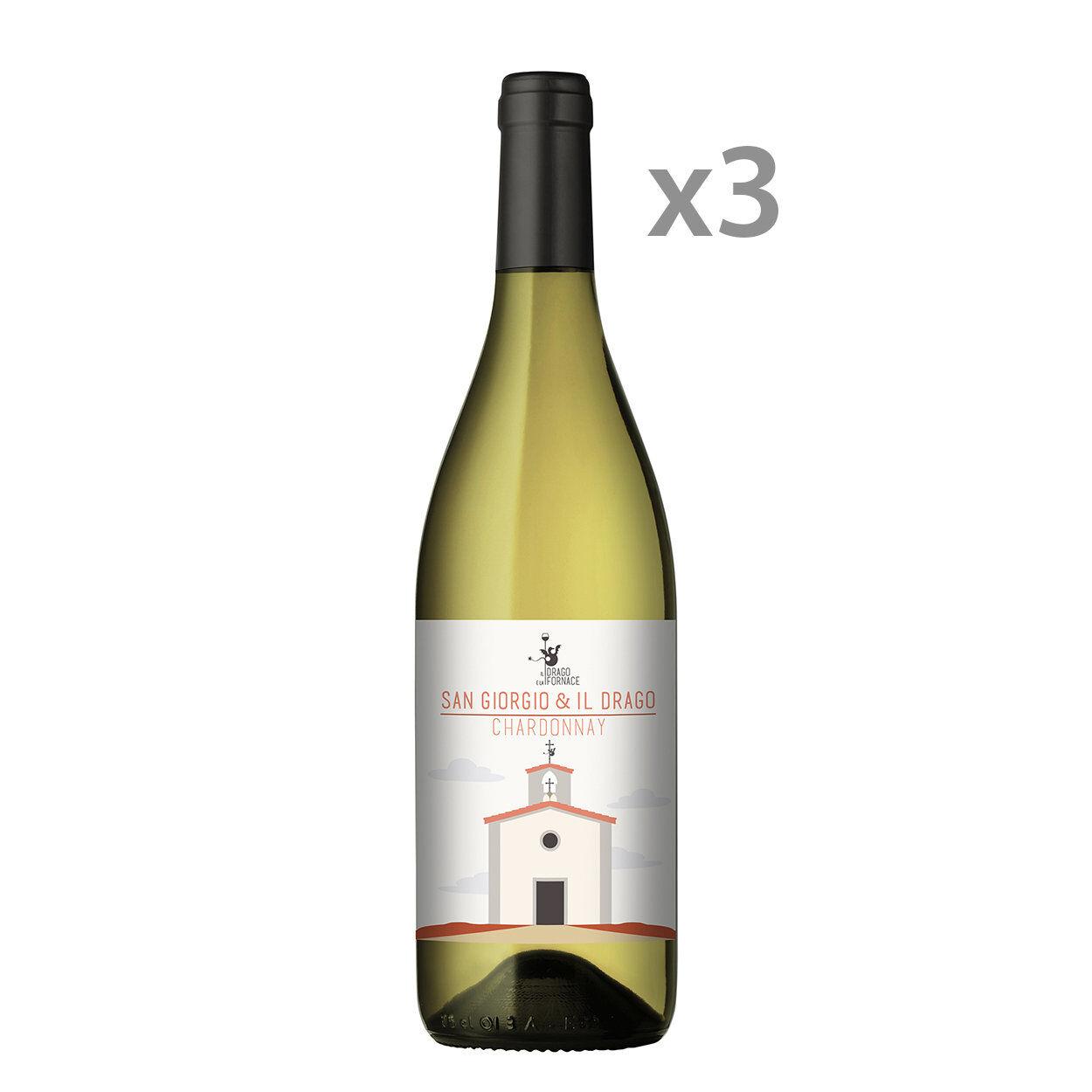 Il Drago e la Fornace 3 bottiglie - Chardonnay Sangiorgio Igt Toscana 2018