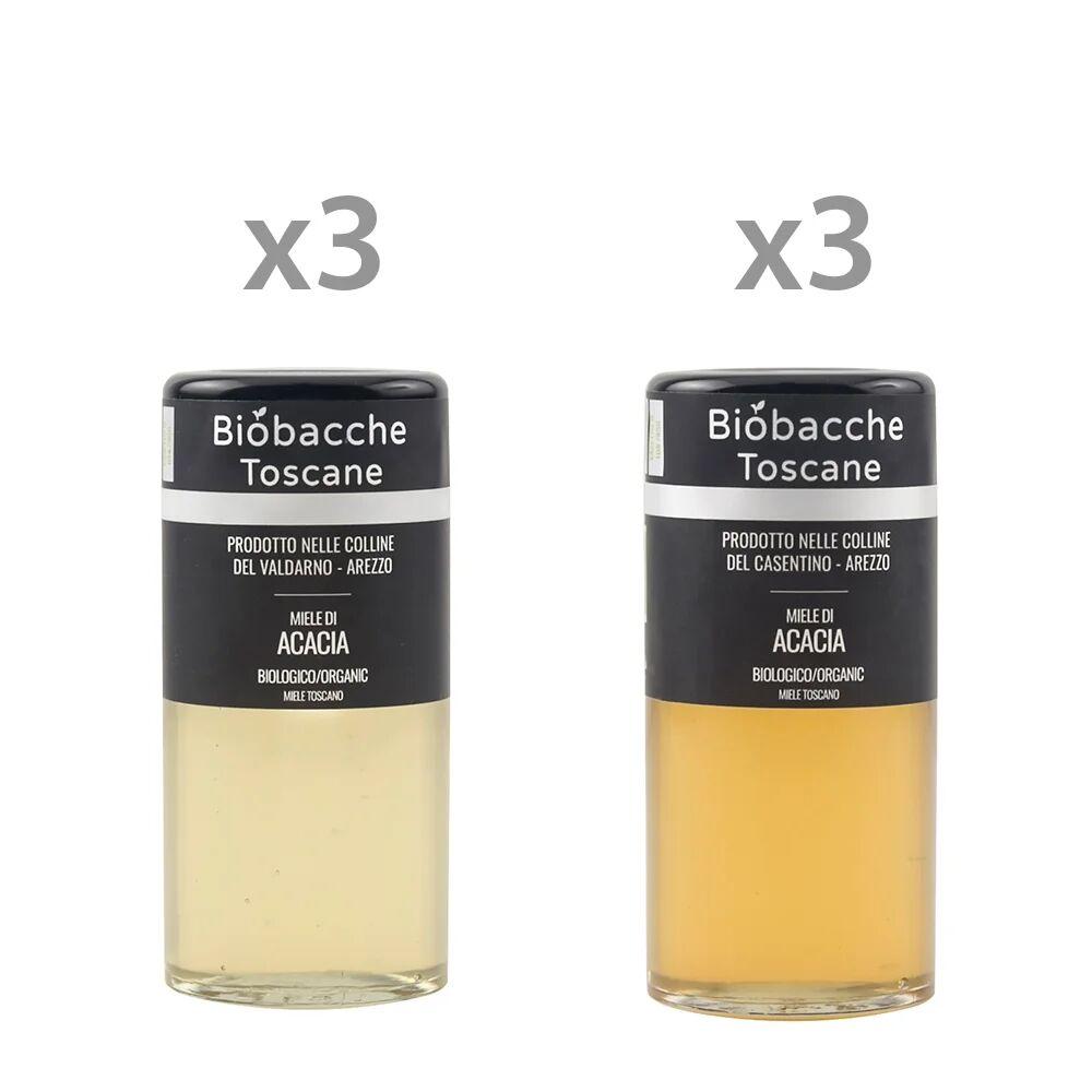 Miele 6 vasetti misti da 135 gr: 3 Miele di Acacia delle colline del Valdarno - 3 Miele di Acacia delle colline del Casentino