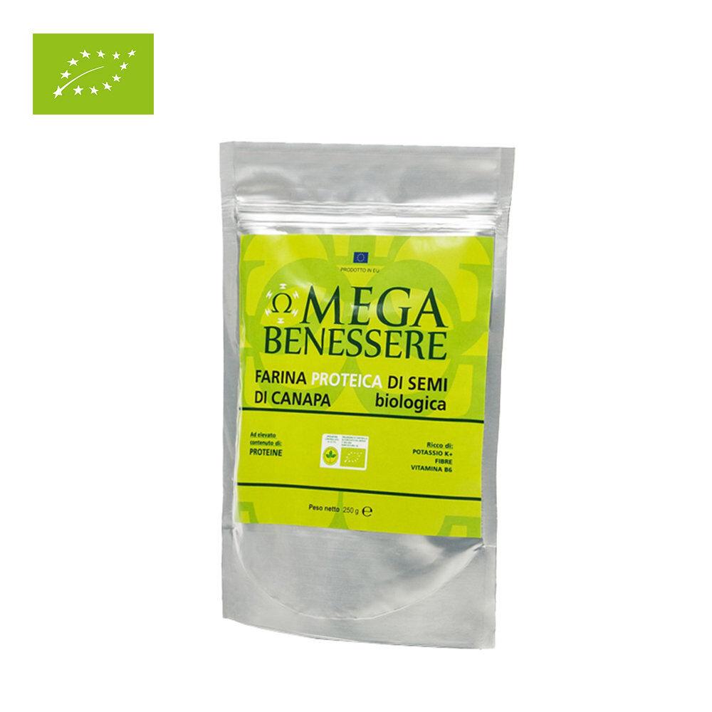 Omega 1 sacchetto - Farina Proteica di semi di Canapa BIO 500 gr