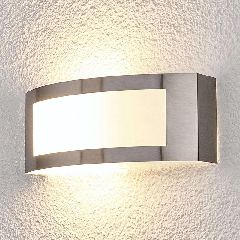 lindby lampada da esterno moderna semicircolare in acciaio inossidabile ip44 - raja