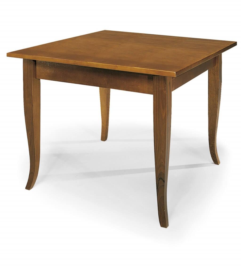 milani home geoffrey - tavolo da pranzo allungabile a libro in legno massello 90 x 90/180