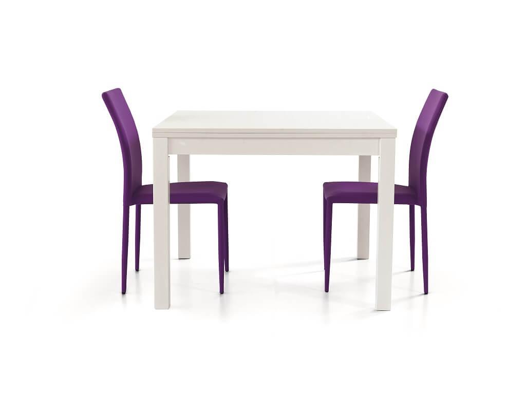 milani home garrett - tavolo da pranzo moderno allungabile a libro frassinato 90 x 90/180