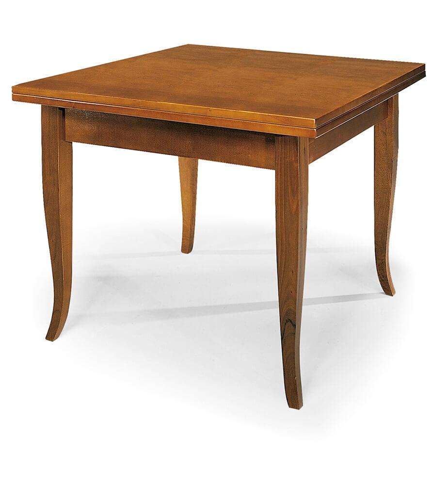 milani home geoffrey - tavolo da pranzo allungabile a libro in legno massello 100 x 100/200